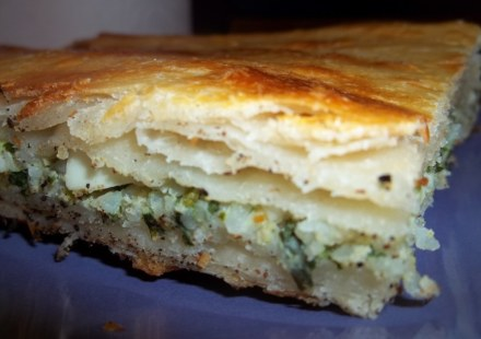tarragon-filled-flaky-pastry-showing-layers