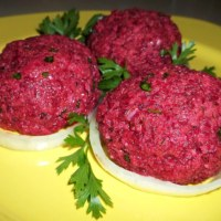 BEETROOT FKHALI WITH WALNUTS