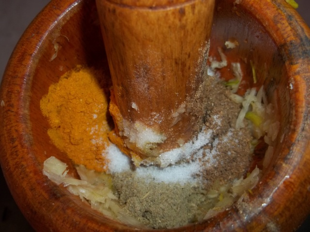 Grinding Spices and Garlic