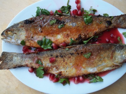trout-with-pomegranate-sauce