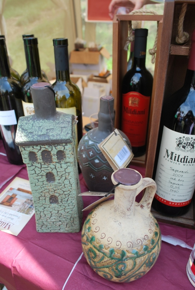 Wine display at the New Wine Festival in Tbilisi