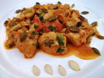 chicken-chashushuli-with-pumpkin-seeds