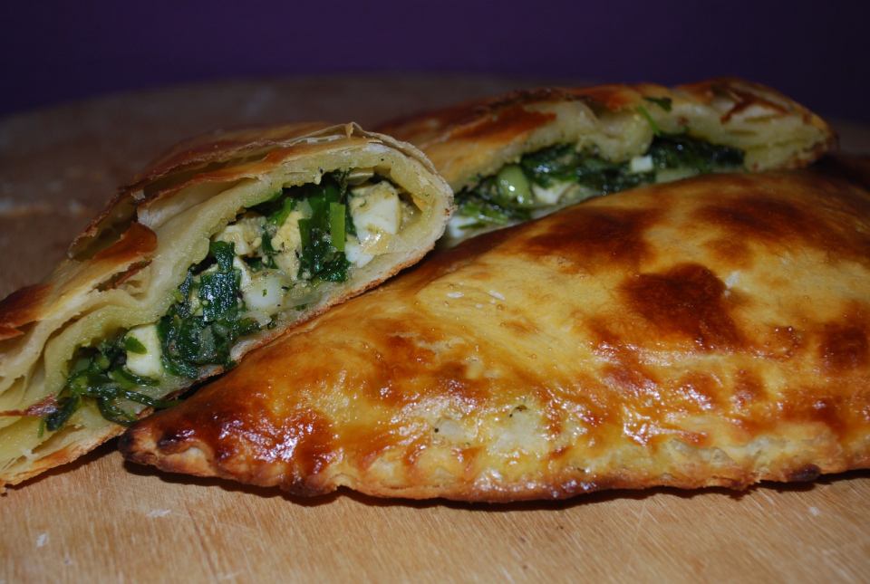 tarragon and egg flaky pastry